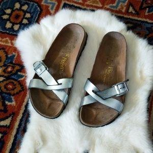 Silver Papillio by Birkenstock Slip on Sandals